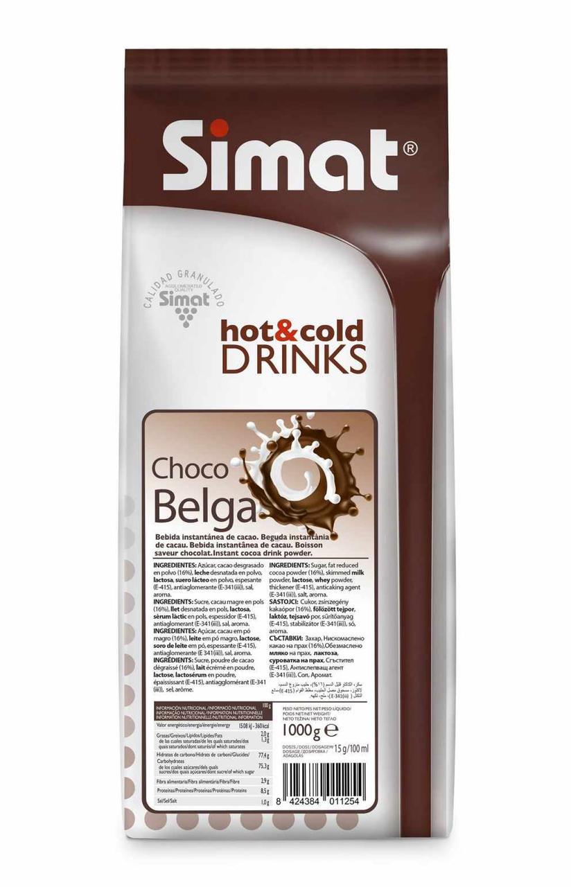 Горячий шоколад  SIMAT Choco Belga 1кг Испания