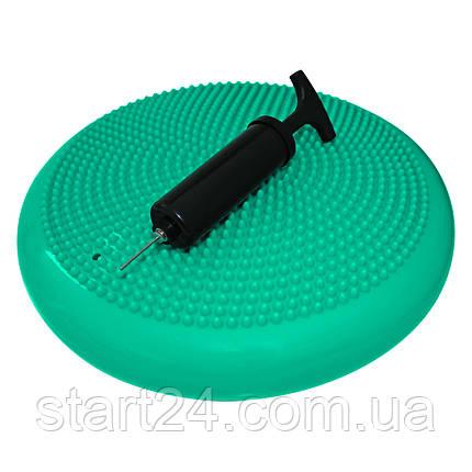 Балансировочная подушка (сенсомоторная) массажная SportVida SV-HK0310 Mint, фото 2