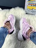 Женские осенние кроссовки Nike M2k Tekno (pink), кроссовки Найк М2к Текно (Реплика ААА), фото 4