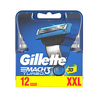 Сменные картриджи Gillette Mach3 Turbo 12 шт (7702018515196)