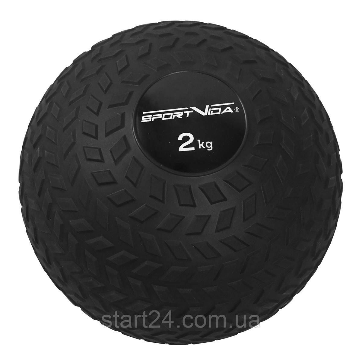 Слембол (медичний м'яч) для кроссфита SportVida Slam Ball 2 кг SV-HK0344 Black