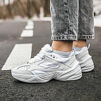 Женские осенние кроссовки Nike M2k Tekno (full white), кроссовки Найк М2к Текно (Реплика ААА), фото 1
