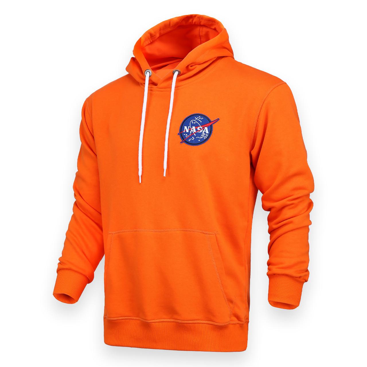 Худи оранжевый NASA с патчем Т-2 ORN S(Р) 20-586-201