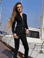 Черный спортивный костюм на молнии женский