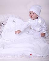 """Крестильный комплект для мальчика """"Крещение + Фрак New"""" белый"""