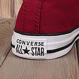 Кеди All Star Chuck Taylor бордові високі, фото 2
