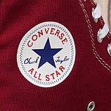Кеди All Star Chuck Taylor бордові високі, фото 3
