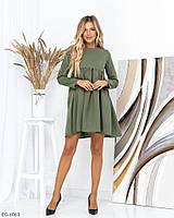 Модное короткое женское платье свободного кроя арт. 013