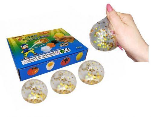 """Набор антистресс игрушек """"Мячик со звёздочками"""", 12 штук MLstar6"""
