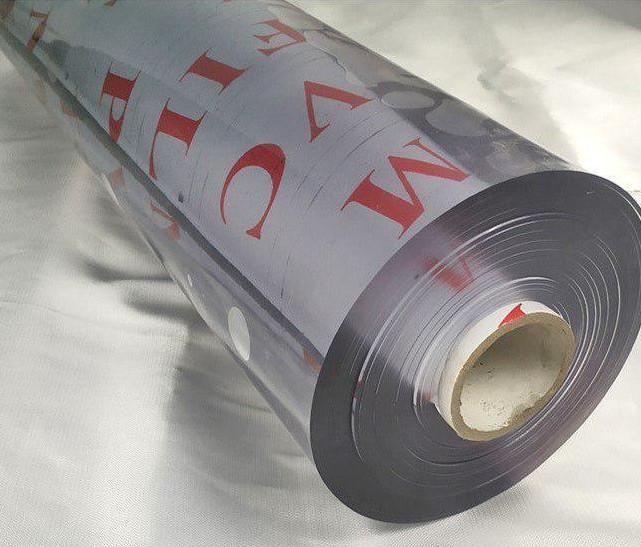 М'яке скло у рулонах Soft Glass Силіконова скатертину для меблів Шир.1.4 м - 20м (товщина 1.5 мм) Прозоре