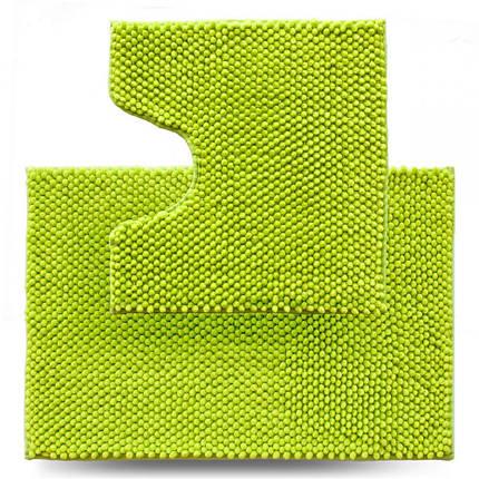 Набір килимків для ванної 2 шт Dariana Ананас D-6437 салатовий, фото 2