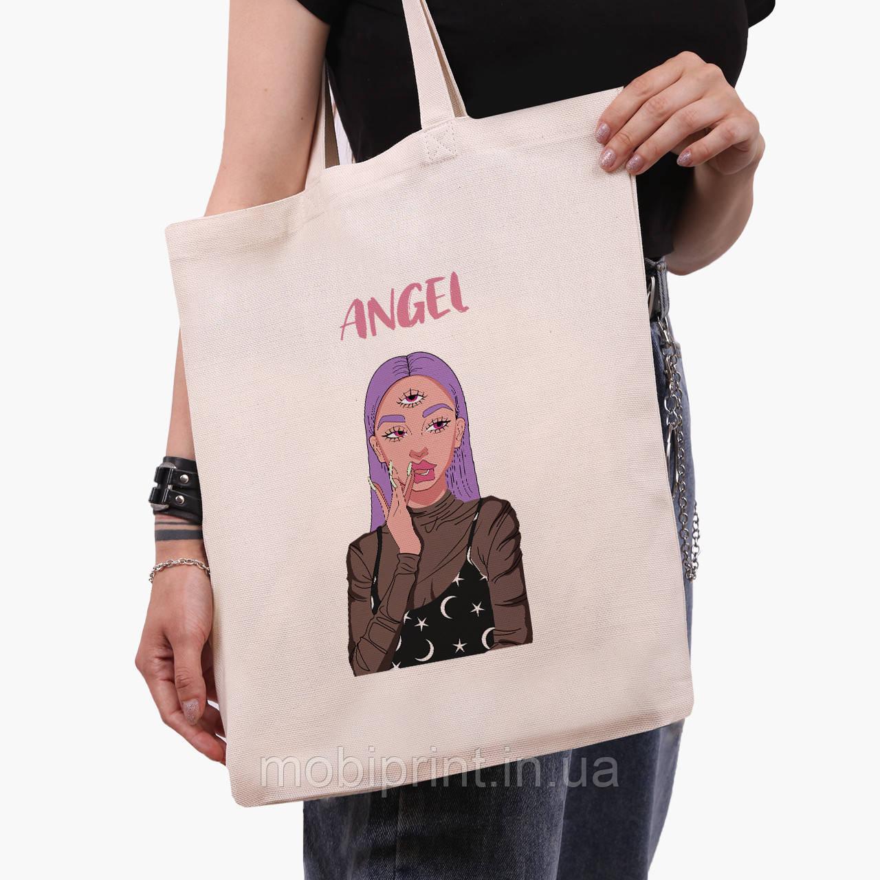 Эко сумка шоппер Ангел Диджитал Арт (Angel Digital art) (9227-1635)  экосумка шопер 41*35 см