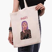 Эко сумка шоппер Ангел Диджитал Арт (Angel Digital art) (9227-1635)  экосумка шопер 41*35 см, фото 1
