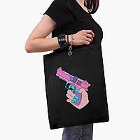 Эко сумка шоппер черная Убивство Диджитал Арт (Kill Digital art) (9227-1636-2)  экосумка шопер 41*35 см, фото 1