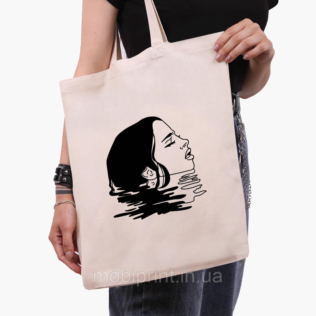 Еко сумка шоппер Контурний мінімалізм (Contour minimalism) (9227-1362) экосумка шопер 41*35 см