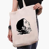 Эко сумка шоппер белая Контурный минимализм (Contour minimalism) (9227-1362-1)  экосумка шопер 41*39*8 см , фото 1