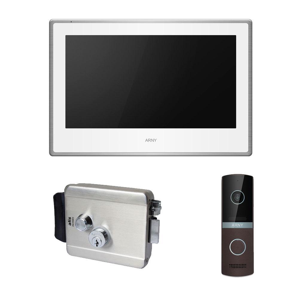 Комплект видеодомофона ARNY AVD-750 2MPX с видеопанелью AVP-NG230 2MPX и электромеханическим замком