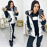 Женский теплый спортивный костюм  жилетка батник и штаны трехнить на флисе+синтепон размер:42-44, 46-48, 50-52, фото 4