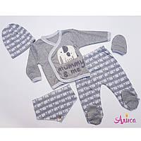 Комплект одежды на выписку для новорожденного мальчика, 5 предметов Турция  0-3 мес