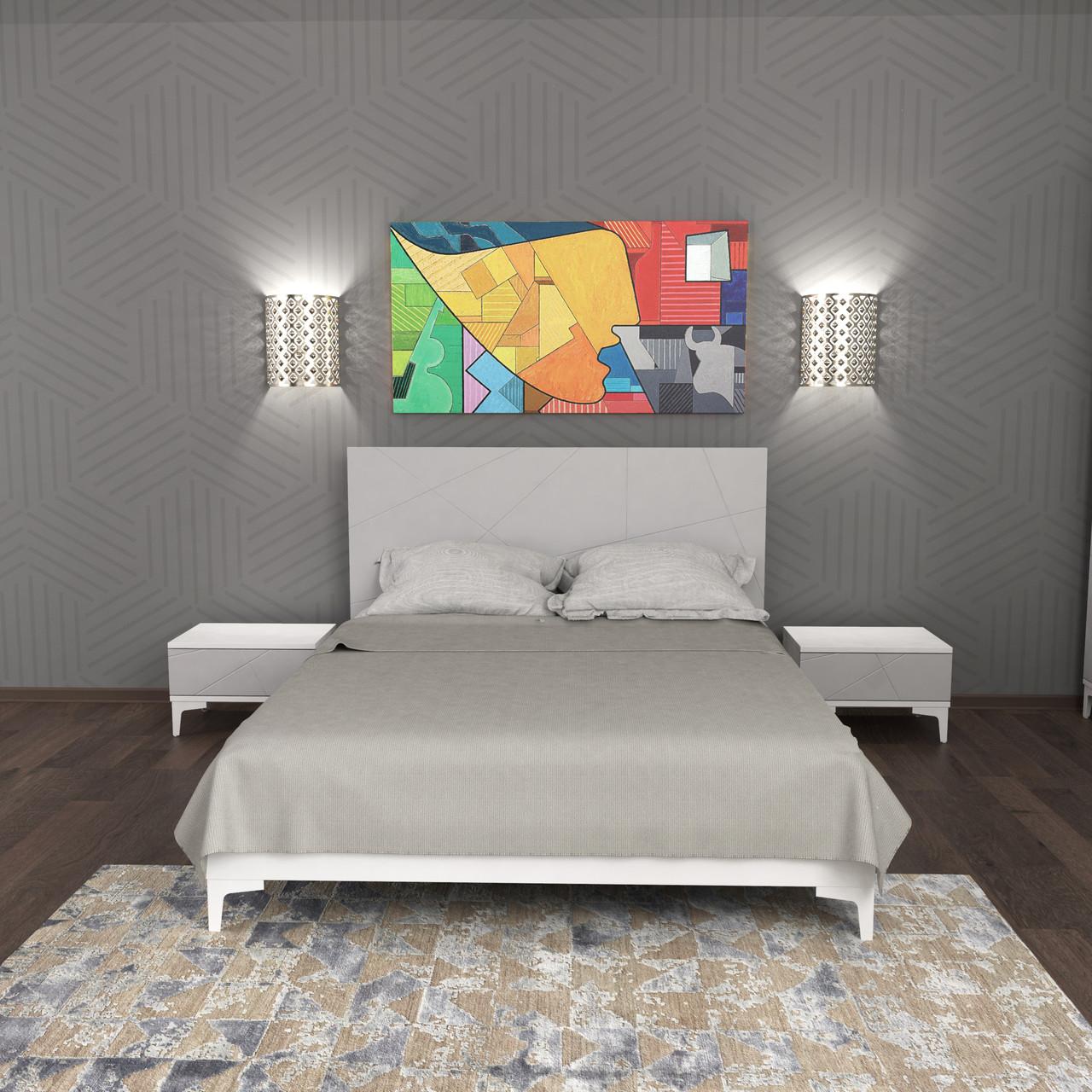 Спальний комплект Picassa b2 Попелястий софттач