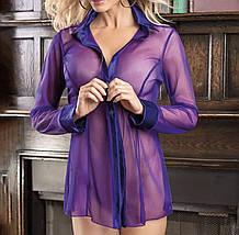 Короткий прозорий халат фіолетового кольору