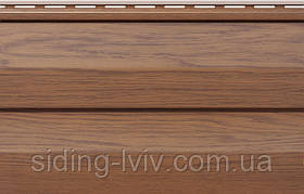 Сайдинг вініловий фасайдинг Fasiding WOODHOUSE панель Золотий Дуб 3,00*0,25