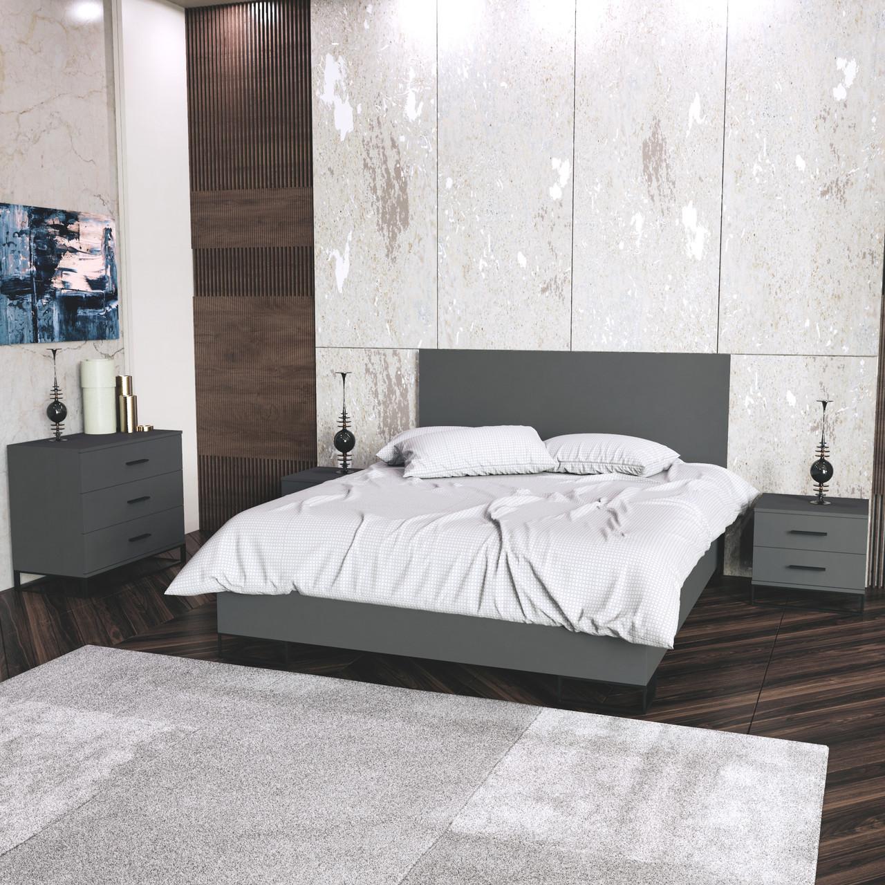 Спальний комплект Ascet b3 Графіт