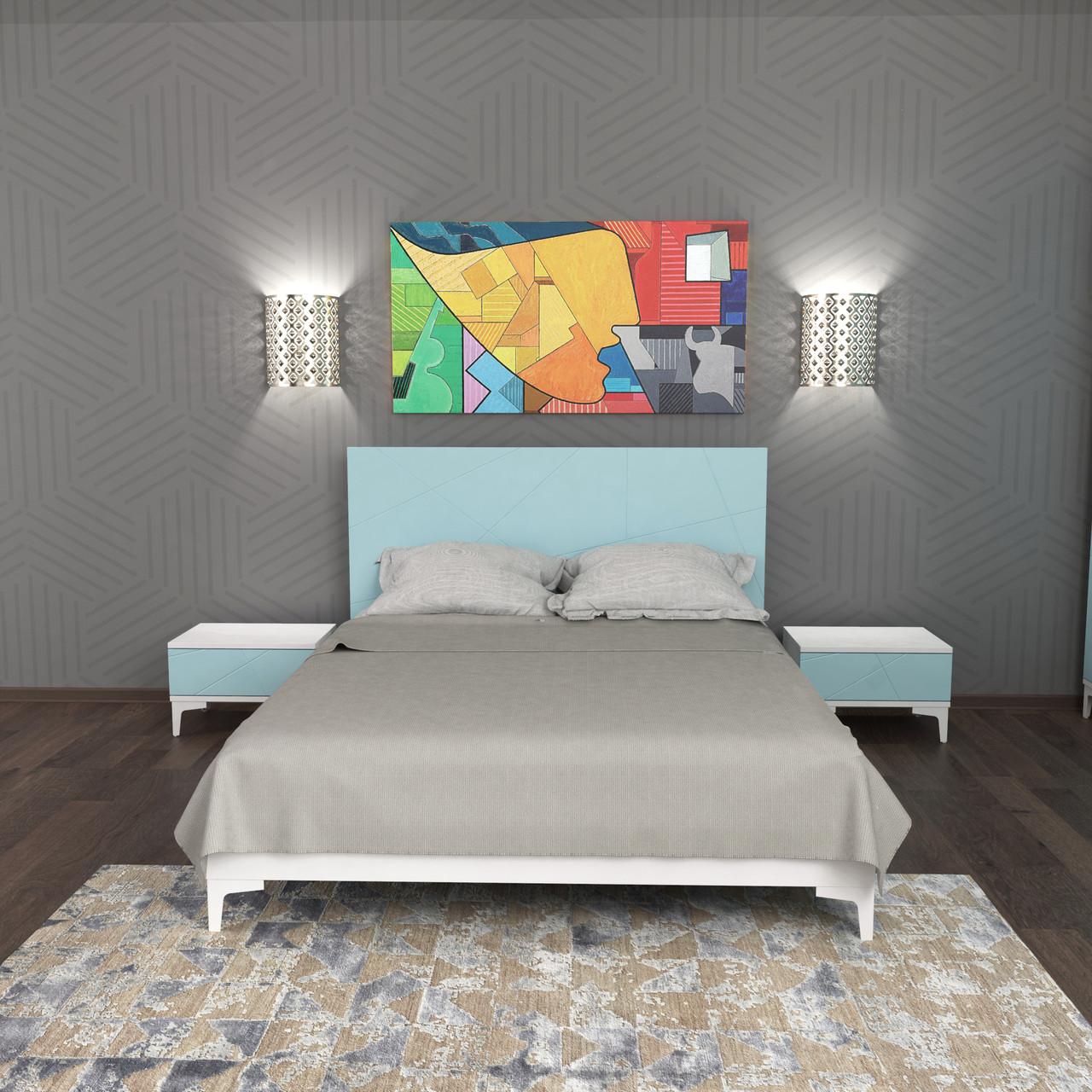 Спальний комплект Picassa b2 БЛАКИТНА ЛАГУНА