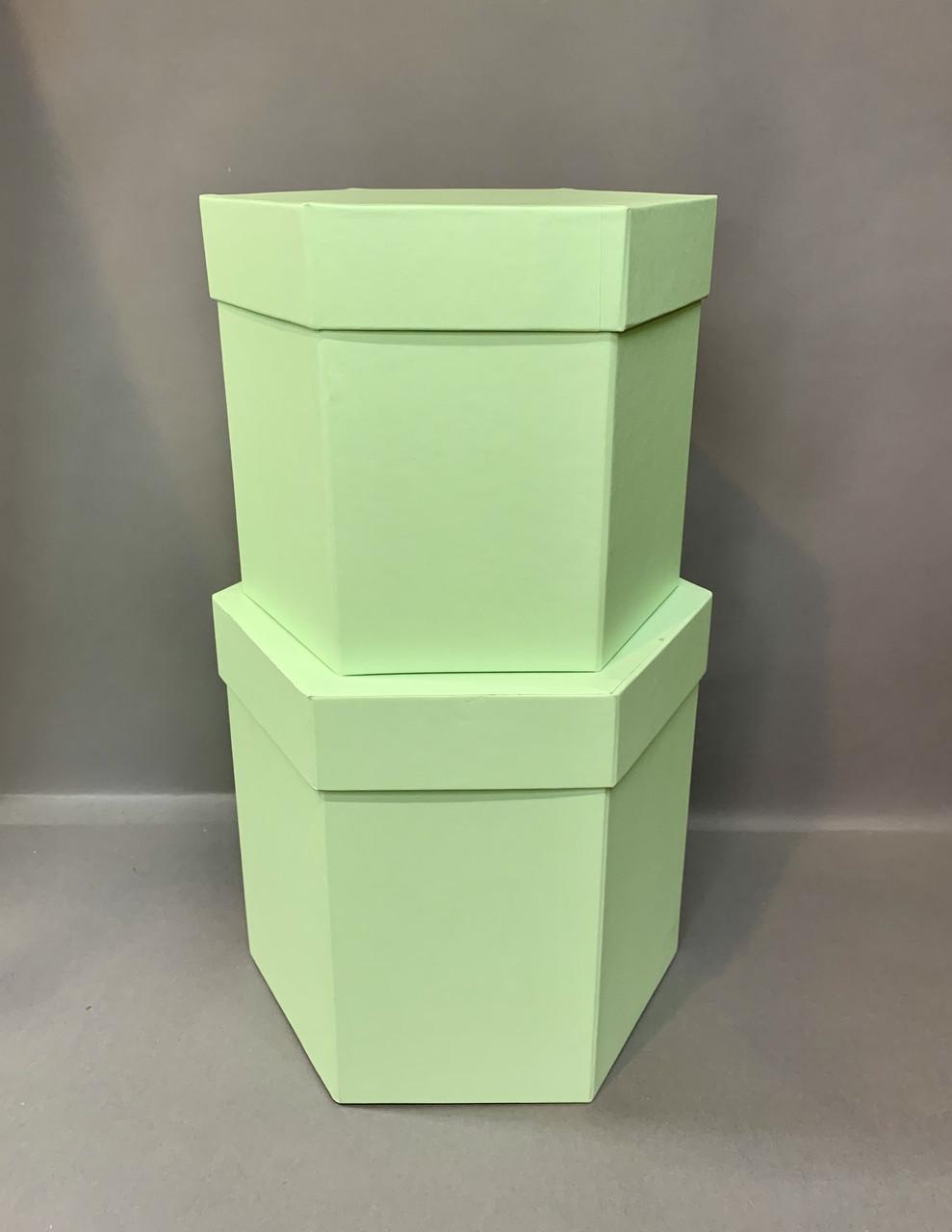 Коробка шестигранная (фисташка мат)