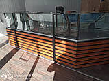Витрина куб угловая бу. Кубическая витрина с углом б/у., фото 2