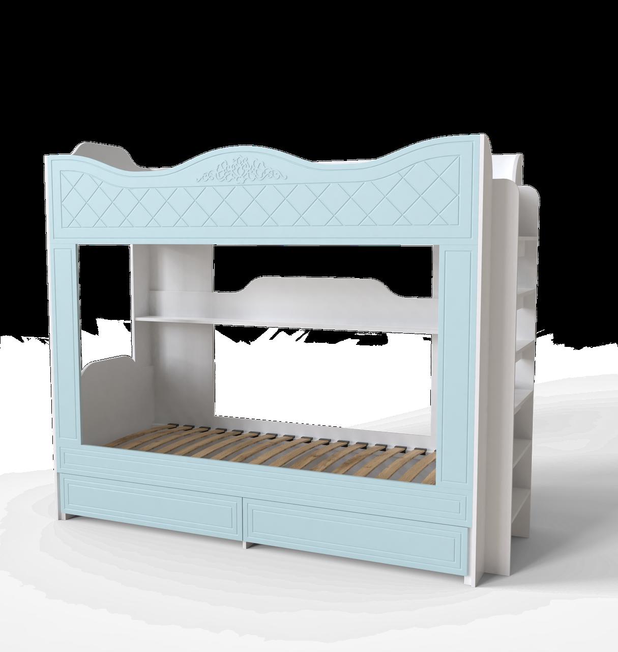 Ліжко двоповерхове Amelie Блакитна лагуна