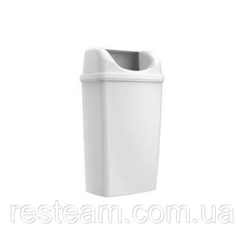 Урна для мусора навесная 25 л пластм. белая TA0061W