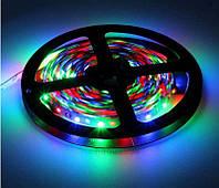 Светодиодная лента LED Гибкая цветная RGB лента Пульт 44 кнопки программирование Длина 5 метров