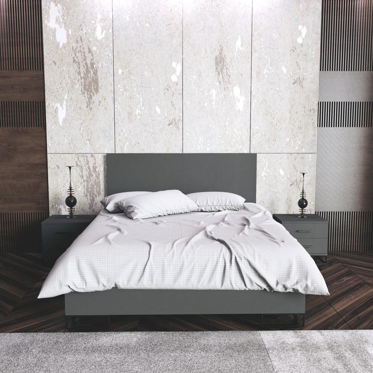 Ліжко Ascet Графіт (1600x2000, 1670)