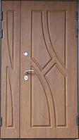 Двустворчатые входные двери с МДФ накладками 2020х1200