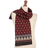 Джаз 1917-16, павлопосадский шарф (кашне) шерстяной  двусторонний мужской с осыпкой, фото 3