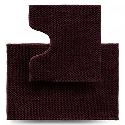 Набір килимків для ванної 2 шт Dariana Ананас D-6434 коричневий, фото 2