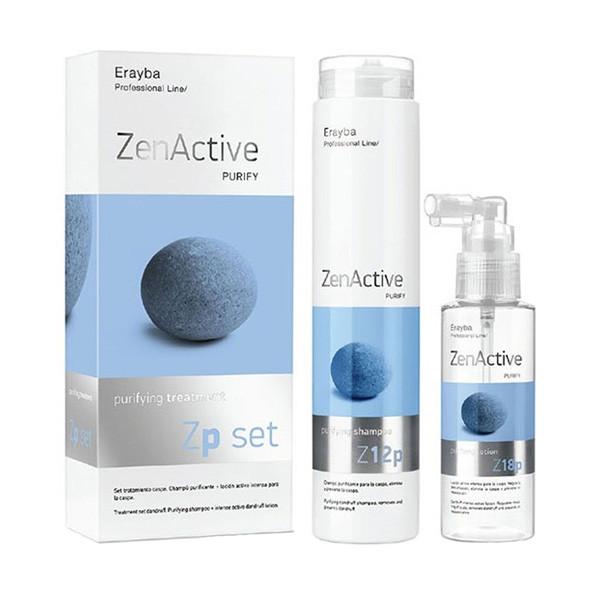 Набор против перхоти Erayba Zen Active Purify Zp Set (Шампунь 250 мл + лосьон 100 мл)
