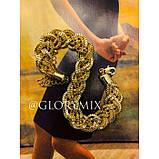 """Цепочка чокер """"Pigtail"""" косичка, золото, фото 2"""