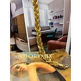 """Цепочка чокер """"Pigtail"""" косичка, золото, фото 4"""