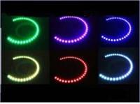 DRL кольца  RGB  тип BMW  2шт d=131мм / 2шт d=146мм LED (управление цветом с телефона) (4шт)  3640