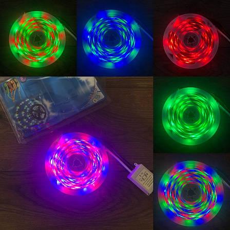 Светодиодная RGB LED лента с пультом 12 220 вольт ргб диодная подсветка 12в 12v лед светодиодные полоски 3528, фото 2
