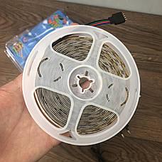 Светодиодная RGB LED лента с пультом 12 220 вольт ргб диодная подсветка 12в 12v лед светодиодные полоски 3528, фото 3