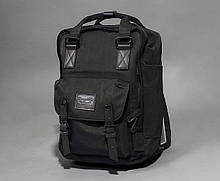 Женский городской рюкзак Doughnut Macaroon черный  Код 11-1000