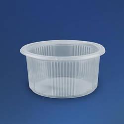 Одноразовий посуд з кришкою 350 мл сметанник