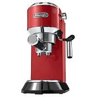 Рожковая кофеварка DeLonghi EC685R красная Гарантия + подарок