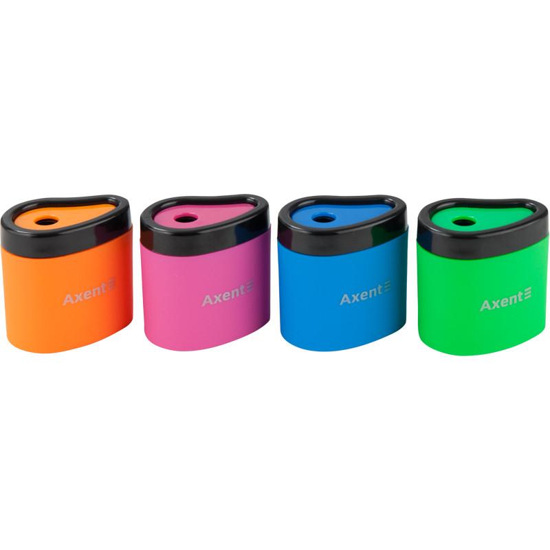 Точилка с контейнером Neon Soft,  AXENT