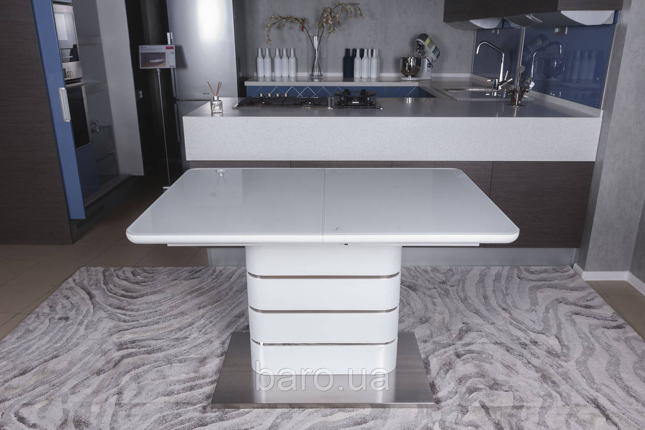 Стол обеденный RICHMOND (120/160*80*76cmH) белый глянец, Nicolas