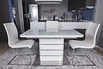Стол обеденный RICHMOND (120/160*80*76cmH) белый глянец, Nicolas, фото 3