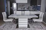 Стол обеденный RICHMOND (120/160*80*76cmH) белый глянец, Nicolas, фото 4